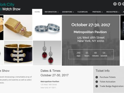 NYC Jewelry and Watch Show at Metropolitan Pavilion 2017