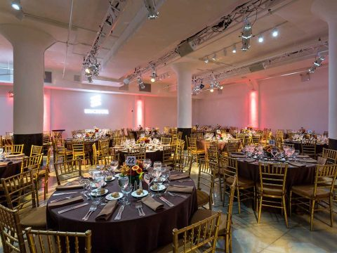 A gala dinner at Metropolitan West Premier Special Event Production Services in New York City, West 46th Street