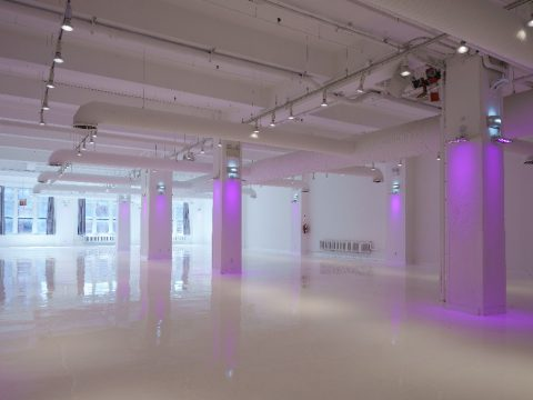 metropolitan pavilion's gallery, poured epoxy resin floor