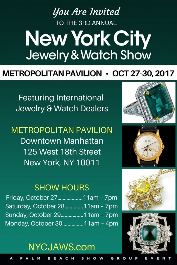 nyc jewelry watch show october 27 30 2017
