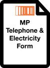Metropolitan Pavilion Telephone & Electricity Form
